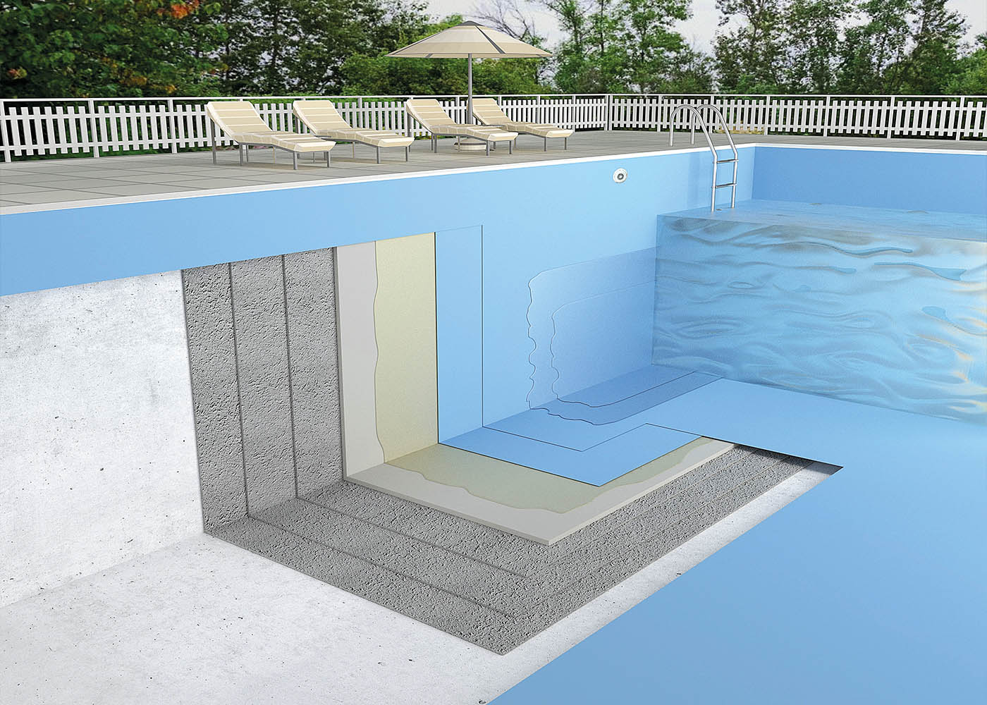 3d-visualization of a pool